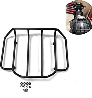 HTTMT A07-BK Black Luggage Rack Rail Trunk Luggage Rack Rail Compatible with Harley Touring Road King Street Glide Road Glide Electra Glide FLHTC FLHS