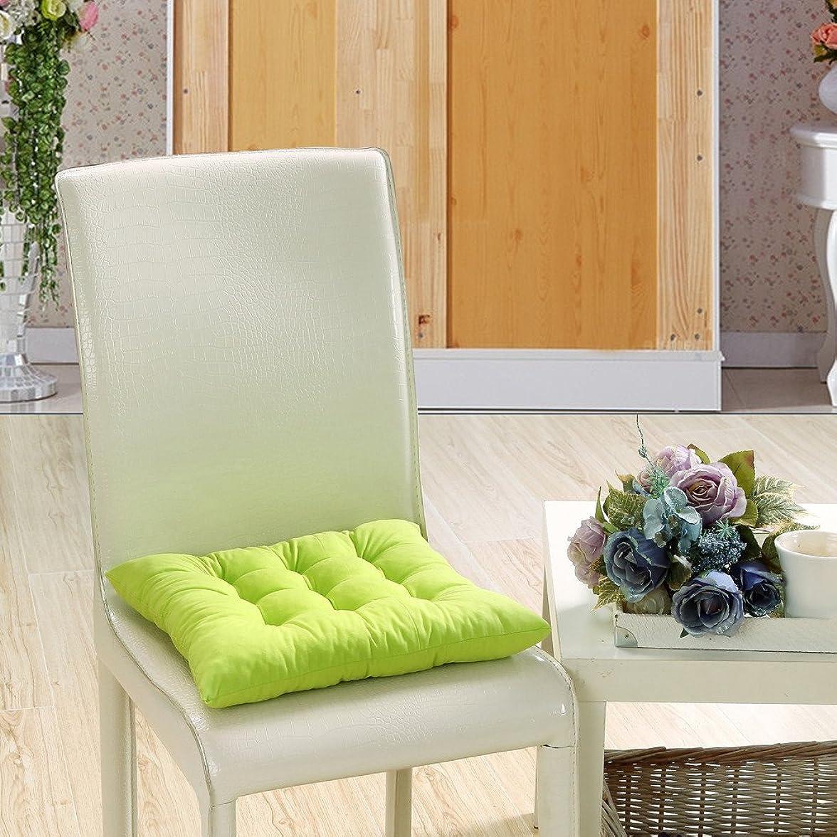 代わりに経済的解放Mangjiu ション 屋内チェアソフトクッション屋外ガーデン中庭ホームキッチンオフィスチェアクッション椅子クッション (緑)