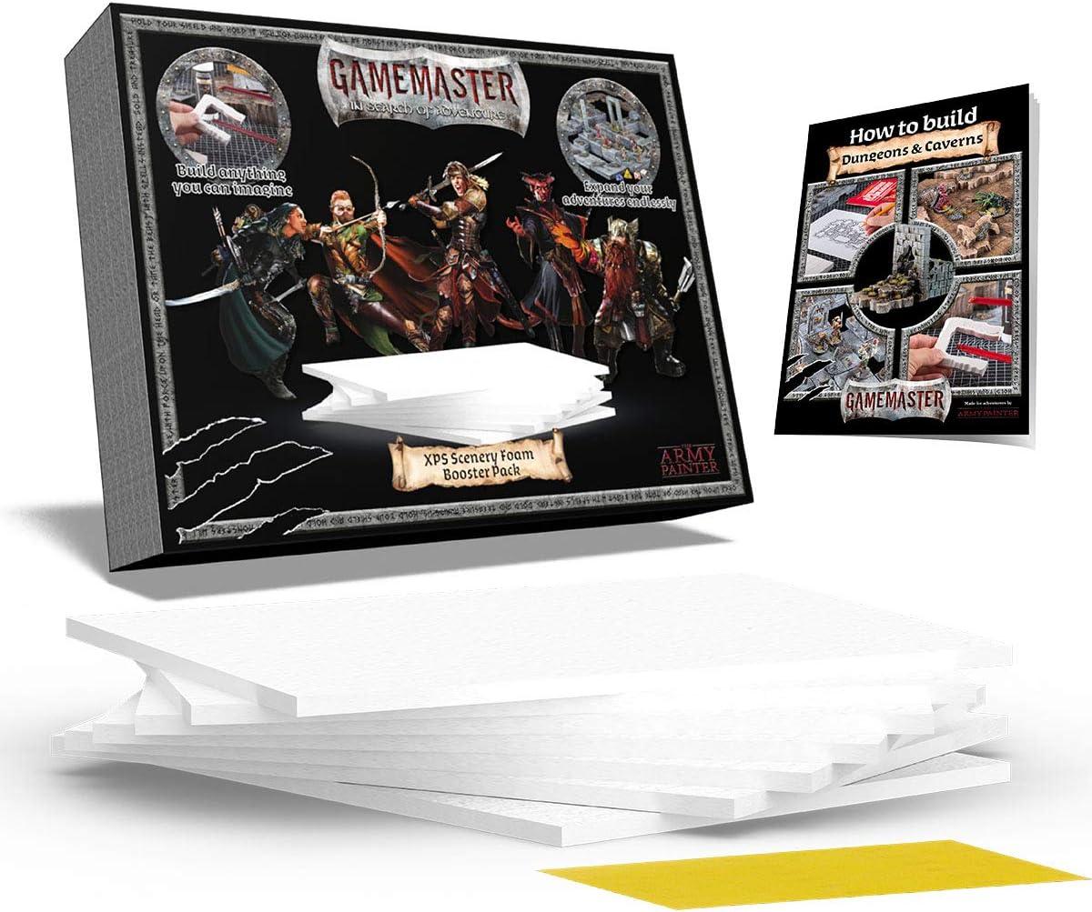 The Army Painter   GameMaster Pack de espuma XPS para escenografía   Suplemento de material de construcción   para Mazmorras y Terrenos, Juegos de rol, Escenografía Wargames y Modelado