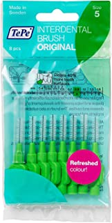 TePe Interdental Brushes 0.8mm Green - 1 Packets of 8 (8 Brushes)