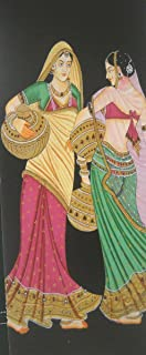 Beautiful Village Ladies going to fetch water from Well - Indian Poster Painting - Reprint on Paper - Unframed