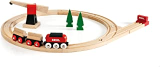 BRIO World - 33010 Classic Freight Set | 18 Piece Train Toy with Accessories and Wooden Tracks for Kids Ages 2 and Up