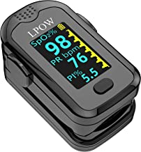 Pulse Oximeter Fingertip, Blood Oxygen Saturation Monitor for Pulse Rate, Heart Rate Monitor and SpO2 Levels with LED Scre...
