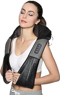 Nekteck Shiatsu Deep Kneading Massage Pillow with Heat, Car/Office Chair Corded Massager, Neck, Shoulder, Back, Waist Massager Pillow [Speed Control, Bi-Direction Control] - Black