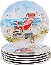 Certified International 27401SET6 Ocean View Dinnerware, Dishes, Multicolor
