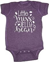 Mashed Clothing Unisex-Baby - Little Miss Jelly Bean Easter - Super Soft Vintage Blend Baby Bodysuit