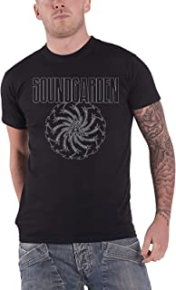 Soundgarden T Shirt Black Blade Motor Finger Band Logo Official Mens Black