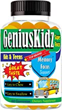 Kids Brain Focus Formula Health Supplements Omega 3 Gummies for Kids & Teens, Kids Multivitamin Gummy with Fish Oil EPA & ...