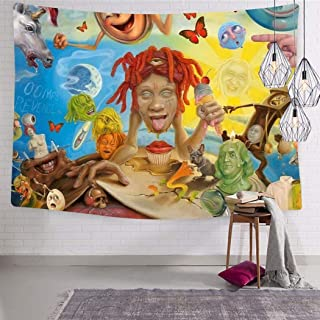 LCCKSS Trippie Rap 1400 Redd Life's A Trip Album Tapestry 3D Wall Hanging Home Decor Blanket Room Decoration 70.9 x 92.5 Inch