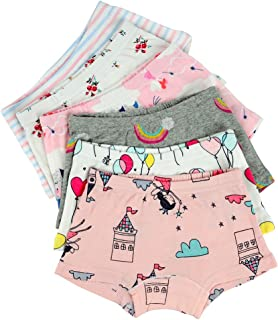 Closecret Kids Series Baby Underwear Little Girls' Cotton Boyshort Panties (Pack of 6)