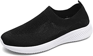 Womens Trail Running Shoes Slip On Breathable Mesh Walking Shoes Women Fashion Sneakers Comfortable Sock Shoes