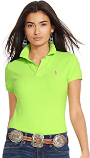 Ralph Lauren Green Cotton Shirt Neck Polo For Women - Small