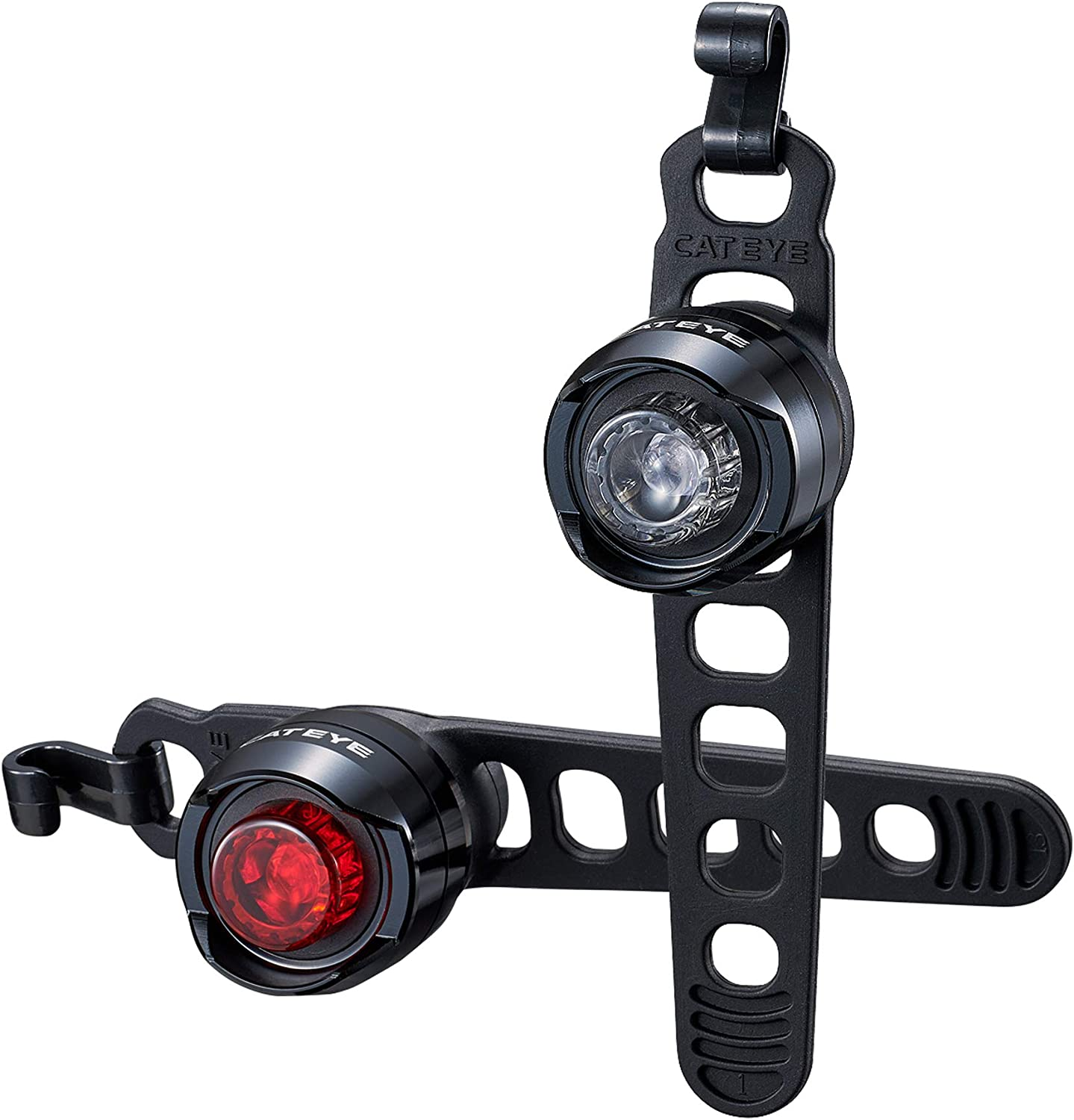 CAT EYEORB LED Bike Safety LightCommuting and Road CyclingFront and Rear Combo, Black
