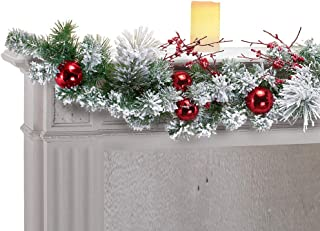 Collections Etc Wintery Pine Snowy Christmas Garland