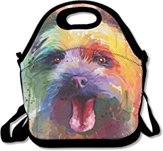 Yorkie 2_25657 Lunch Bag Insulated Lunch Box Cooler Tote Handbag Food Container Gourmet Tote Warm Pouch For School Work Of...