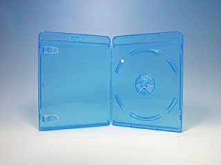 ブルーレイケース 1枚収納 100個 / クリアブルー/ロゴ有 (Blu-rayケース/BDケース)
