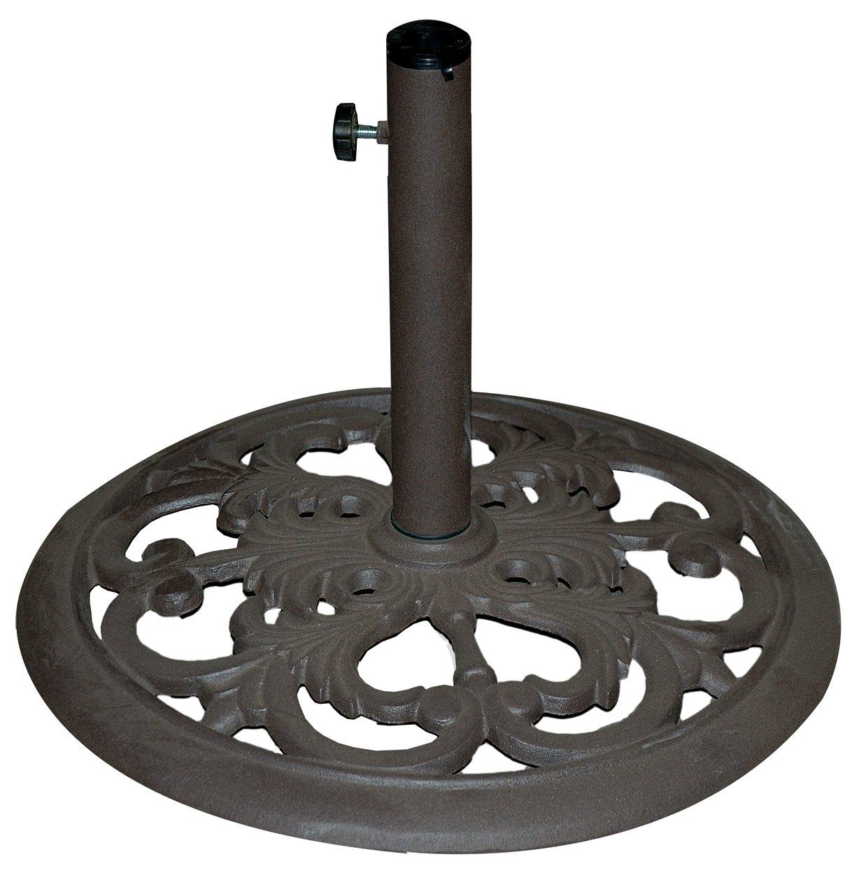 TropiShade 30 Pound Bronze Powder Coated Umbrella