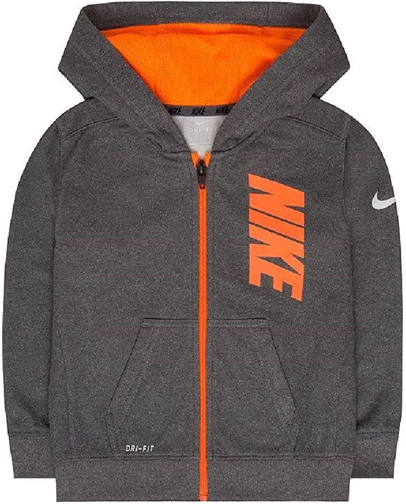 Nike 86B217 Therma-FIT Fleece Logo Graphic Kids Hoodie
