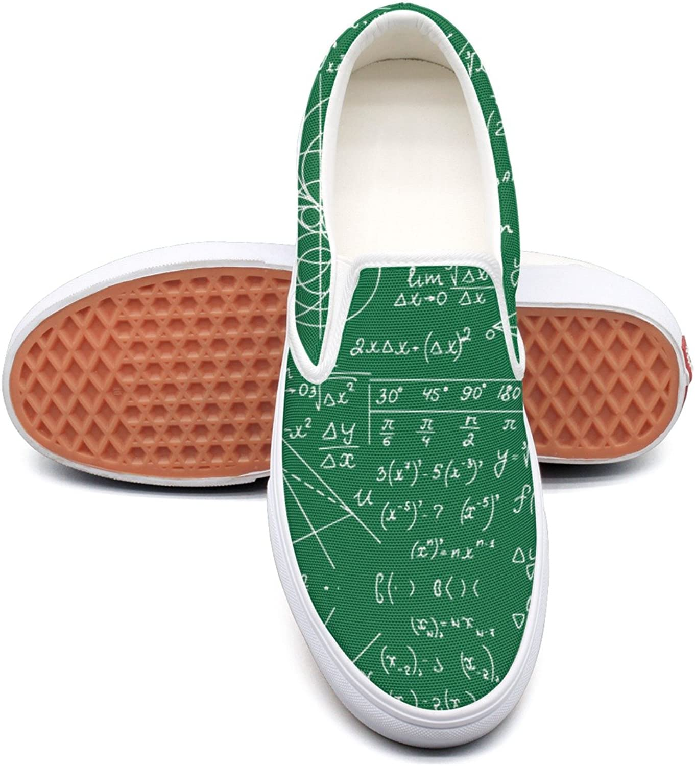 SEERTED Math Equations Geometry Comfortable Sneakers for Women for Work