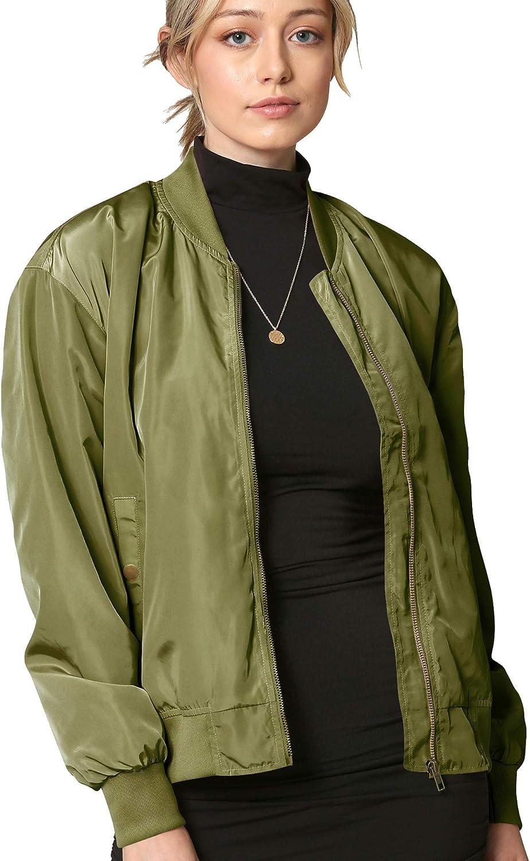 CTC Women's Classic Lightweight Jacket Multi Pocket Windbreaker Bomber Jacket