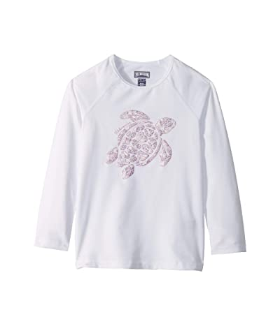 Vilebrequin Kids Glassy Jungle Turtles Rashguard (Toddler/Little Kids/Big Kids) (White) Girl