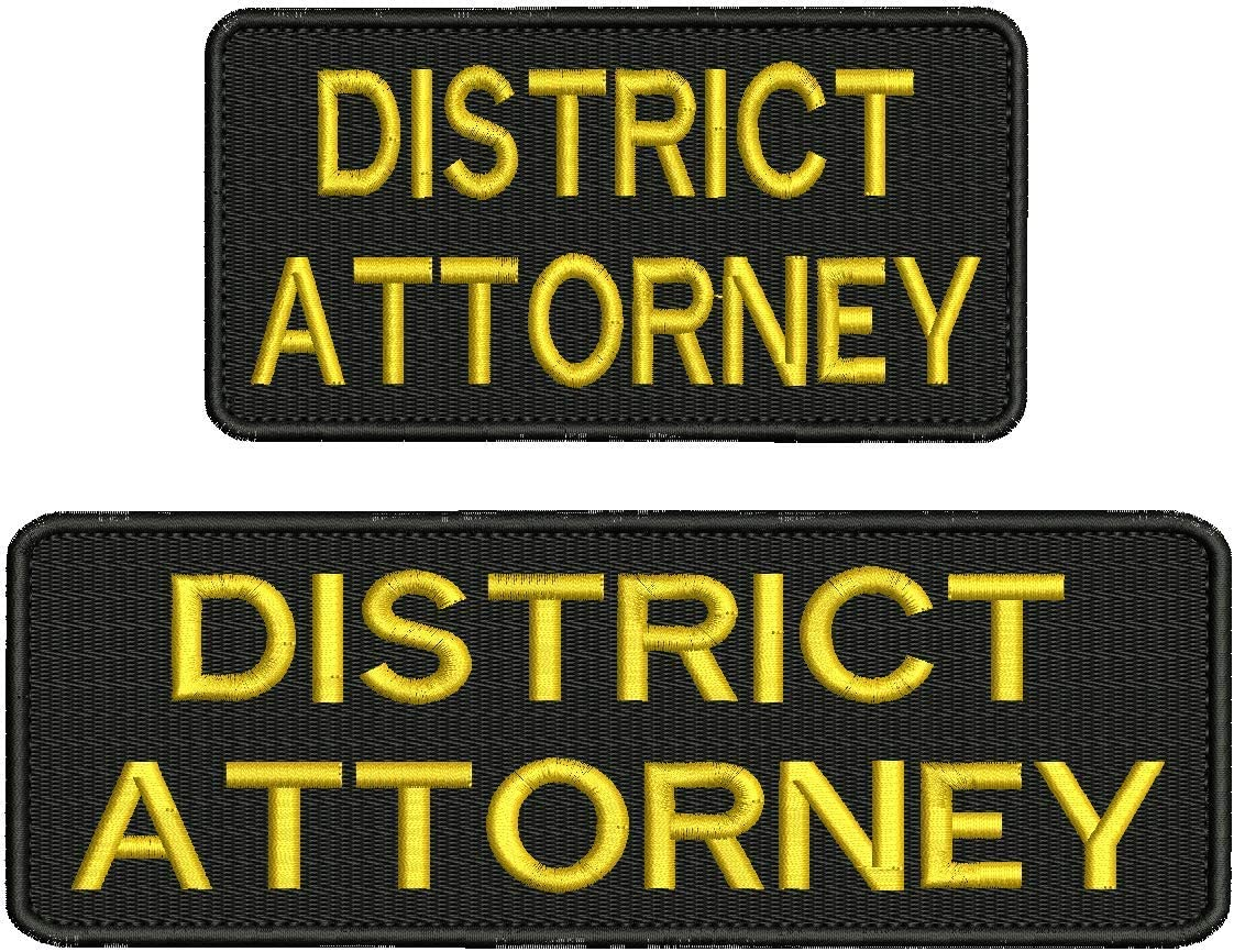 District 5 ☆ popular Attorney Embroidery Patch Hook Gold 3x9 A surprise price is realized 3x6