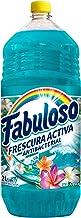 Fabuloso, Frescura Activa, Limpiador Líquido, Mar Fresco, Protección antiviral y antibacterial, Fragancia concentrada, int...