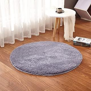 HomeMiYN Circle Floor Pad Indoor Round Area Rugs Entryway Living Room Bedroom Home Shaggy Carpet Multi-Size