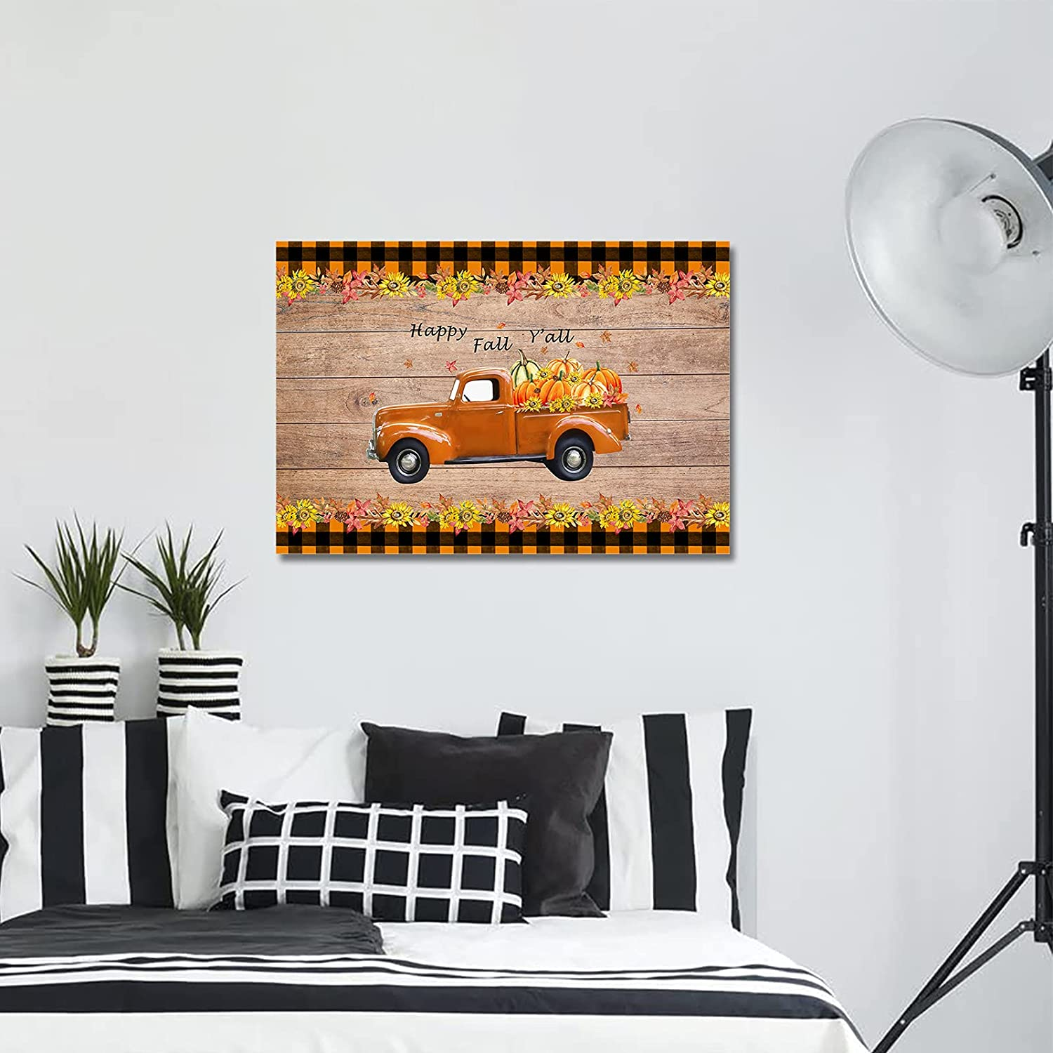Wall Art Max 67% OFF Canvas Max 55% OFF Painting Artwork for Bedroom Fall an Happy Y'all