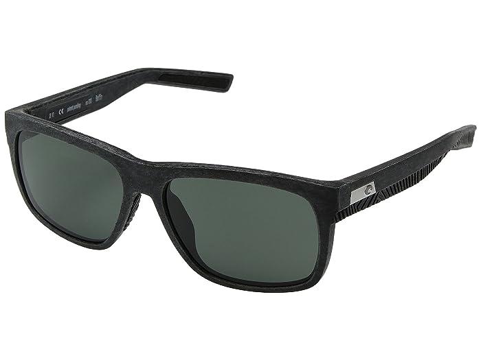 Costa  Baffin (Net Gray/Black Rubber Gray 580G) Athletic Performance Sport Sunglasses