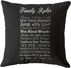 أغطية وسائد من Swono Quote مطبوع عليها قواعد الأسرة نص من الكتان لتزيين المنزل للأريكة والسرير الناعم للنساء والرجال 45.72...