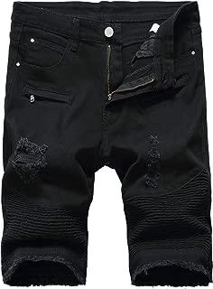 Men's Denim Shorts with Zipper Deco