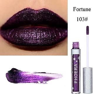Lipstick Liquid,Lipstick Matte Set To Glitter Liquid Lipstick Waterproof Lip Gloss Makeup Lipstick for Women (C)
