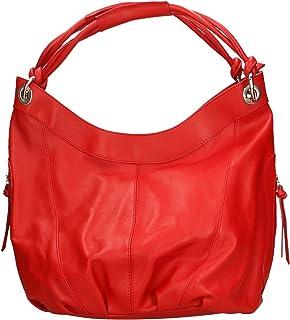 Aren - Shoulder Bag Borsa a Spalla da Donna in Vera Pelle Made in Italy - 42x34x16 Cm