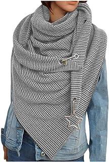 catmoew Bufanda Triangular Para Mujer OtoñO Invierno Bufanda CláSica CáLido Suave Color SóLido Manta Grande Abrigo Bufandas