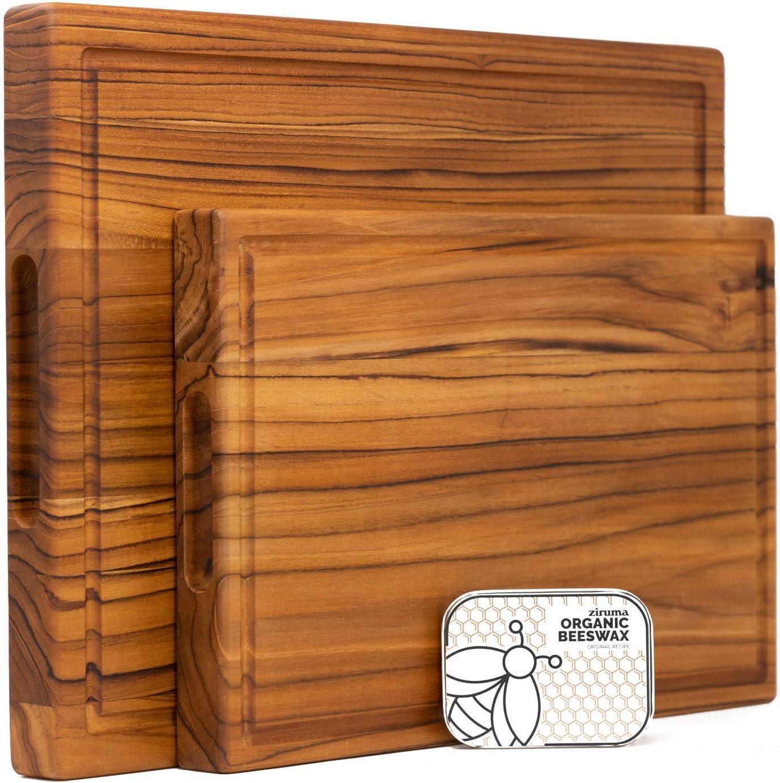 Ziruma Large Teak Wood Cutting Board Max 54% OFF Set store and of 2 20x15 17x11 -