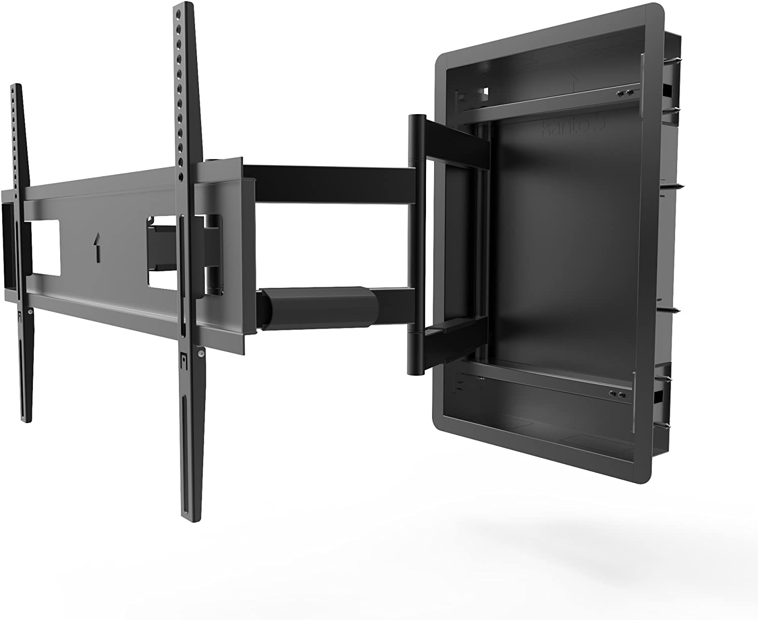 Kanto Recessed in-Wall Full Motion TV Mount for 46-inch to 80-inch TVs