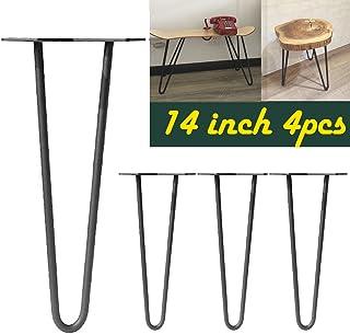 356cm Dragonne Pieds de table en acier Noir 2-rod Métal industriel moderne Mid Century Bureau Table basse pour meubles d...
