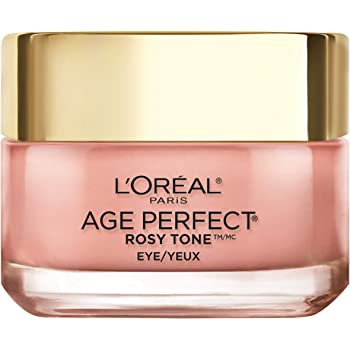 Eye Cream, L'Oreal Paris Rosy Tone Anti-Aging Eye Cream Moisturizer to Treat Dark Circles and Under Eye, Visibly Color Corrects Dark Circles and Brightens Skin, Suitable for Sensitive Skin, 0.5 oz.