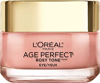 Eye Brightener کرم چشم توسط L'Oreal Paris محصولات مراقبت از پوست، Age Perfect Brilliant Eye Brightener به رنگ قابل قبول دایره های تاریک درست، عطر و طعم، Paraben Free، 0.5oz.