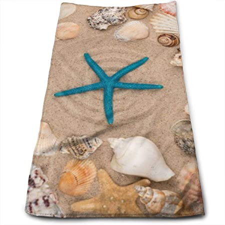 Amazon Com Wihve Hand Towels 30 X 15 Starfish Seashells Stars Multipurpose Towels Extra Absorbent For Bath Hand Face Gym And Spa Home Kitchen