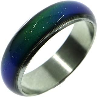 6MM Color Change Emotional Mood Ring Bang