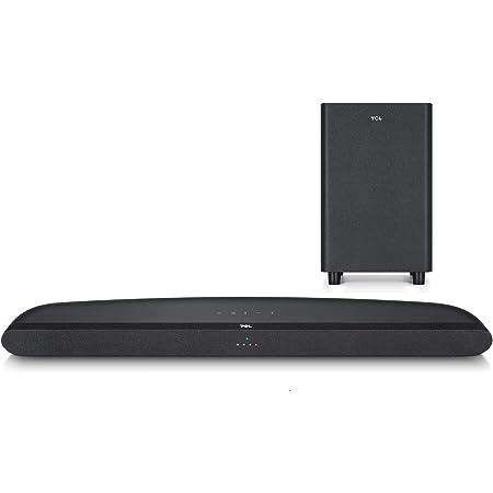 TCL Soundbar TDS6110 per TV con Subwoofer Wireless, Bluetooth (32-inch Speaker, Dolby Audio, HDMI ARC, Montaggio a parete, Telecomando, tre modalità di suono), Nero, 240w