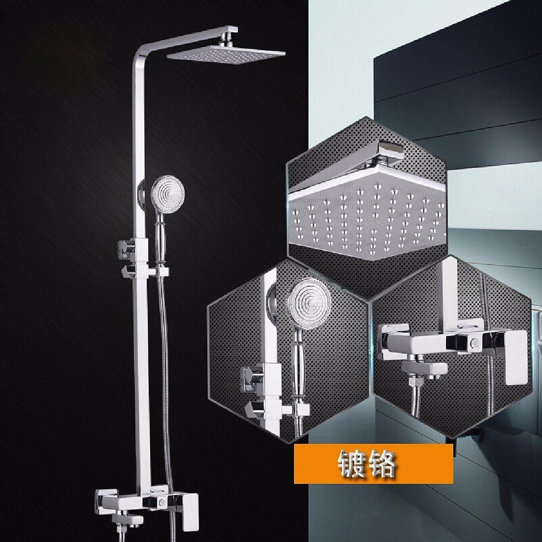 YFF@ILU Alle im europischen Stil - Kupfer square Dusche Dusche, alle - Kupfer retro Set Dusche, b Dusche