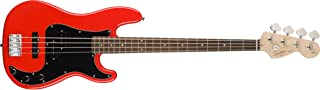 Squier by Fender Affinity P/J Beginner Electric Bass Guitar - Rosewood Fingerboard, Race Red