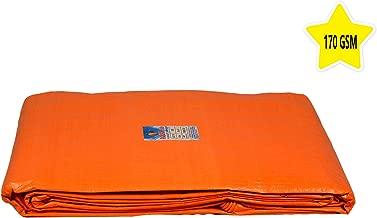 AQBAH Tarpaulin Sheets, Tarpaulin 100% Pure Virgin UV Treated 170 GSM Orange Blue (09 ft x 06 ft)