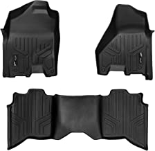 MAXLINER Floor Mats 2 Row Liner Set Black for 2012-2018 RAM 1500/2500/3500 Crew Cab (4 Full Size Doors)
