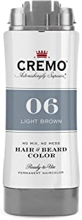 Cremo No Mess 2 in 1 Hair and Beard Color, Light Brown, 2.7 Fluid Ounces