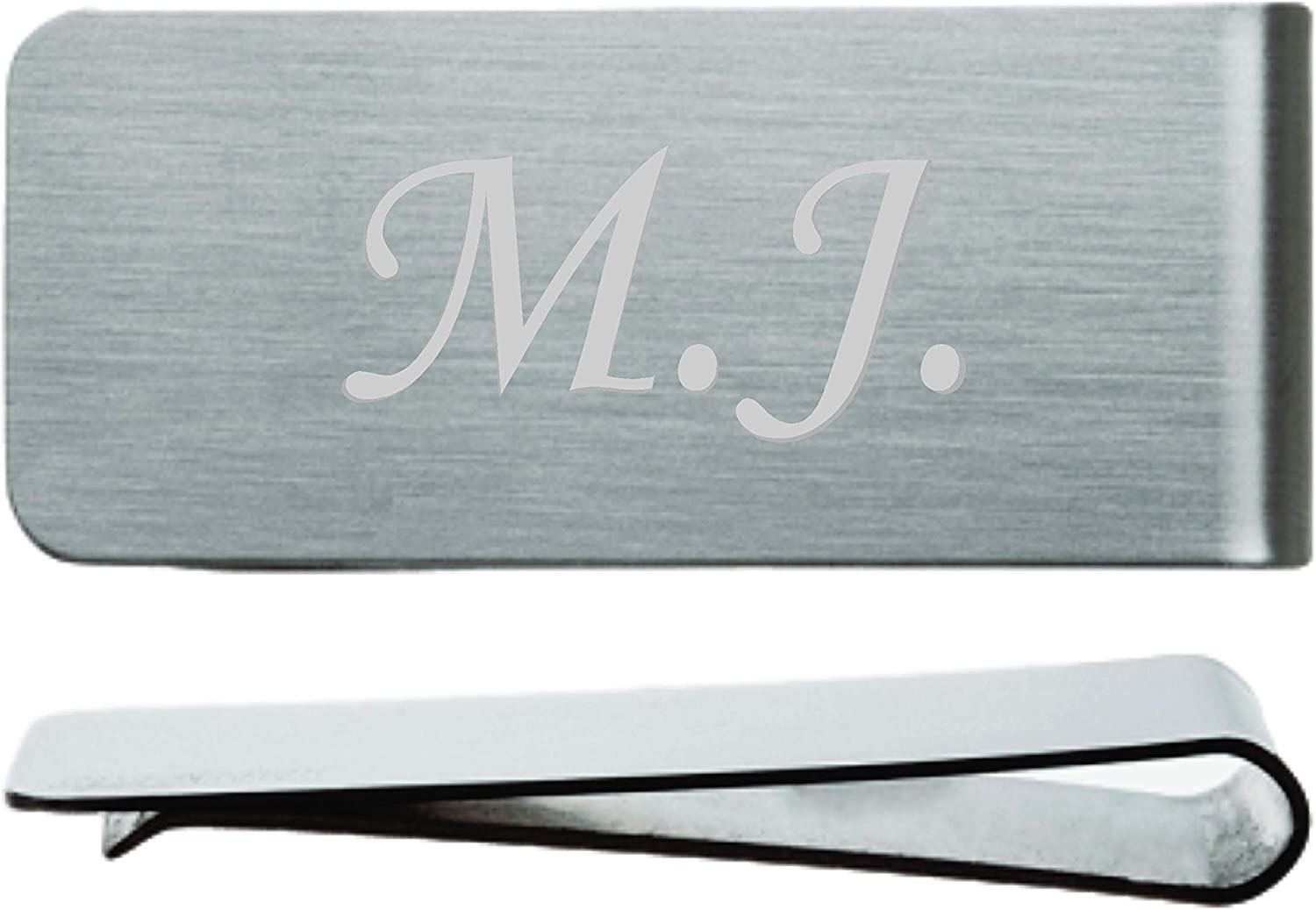 Custom engraved Money Clip initials name word wallet