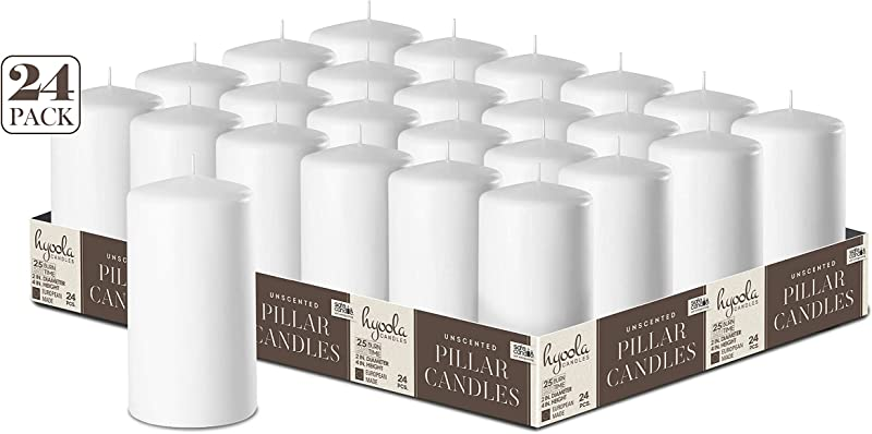 White Pillar Candles 2 Inch X 4 Inch 24 Pack Unscented Bulk Pillar Candles Made In Europe
